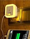 sensore creativo caldo usb bianco ricaricabile luce relativo alla luce il bambino notte di sonno (colori assortiti)
