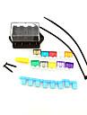 voiture camion circuit iztoss 4 voies ato fusible de lame porte-bloc de boite 12v 24v standard avec fusible et outils pour le montage