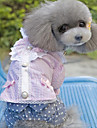 Dog Dress Purple / Pink Dog Clothes Summer / Spring/Fall Stripe / Bowknot Fashion / Casual/Daily