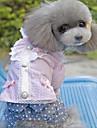 개 드레스 퍼플 / 핑크 강아지 의류 여름 / 모든계절/가을 Randig / 리본매듭 패션 / 캐쥬얼/데일리