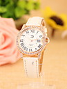 Women's Fashionable  Leisure Roman Scale Diamond Quartz Watch Leather Band Cool Watches Unique Watches