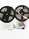 Z®ZDM 2X5M  Waterproof 144W 5050 SMD RGB LED Lamp Strip 1BIN2 Signal Line IR24 Iron Controller(DC12V 12A)