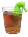 гиппокамп силиконовые формы чая для заварки чая ситечко кофе фильтр инструменты Вкладыш сетчатый фильтр мешок кружки фильтр