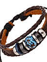Unisex Leather Alloy Handcrafted Vintage Strand Bracelets