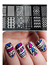 1pcs  New Nail Art Stamping Plates  DIY Geometric Image Templates Tools Nail Beauty XY-J02