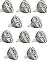 10pcs 5.5w mr16 800-900lm lampada de luz quente / fria led spot lights (12v)