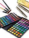 3in1 Eye Makeup Set(120 Colors Eyeshadow Cosmetic Palette+4PCS Eyeshadow Brush+2PCS Eye Lash Expansion Curling Mascara)