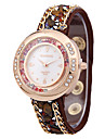 Жен. Модные часы Часы с незакрепленными камнями Кварцевый сплав Группа С подвесками Черный Белый Красный Коричневый Роуз