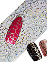 1pcs 100cmx4cm Glitter Nail Foil Sticker Beautiful Lace Flower Leaf Feather Image Nail Decorations DIY Beauty STZXK16-20