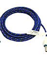 3M 10ft Fabric Braided Woven Micro USB Charging Cable Data Sync Cord for Samsung HTC Sony Phones (Blue)