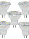2W GU4(MR11) Декоративное освещение MR11 9 SMD 5730 280LM lm Тёплый белый / Холодный белый Декоративная 9-30 V 5 шт.