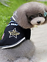 Dog Shirt / T-Shirt / Hoodie Black / Gray Dog Clothes Winter / Spring/Fall Color Block Fashion