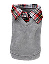 Dog Shirt / T-Shirt Sweater Gray Dog Clothes Winter Spring/Fall Britsh Fashion Casual/Daily