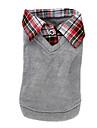 Hunde T-shirt / Pullover Grau Hundekleidung Winter / Fruehling/Herbst Britsh Modisch