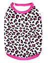 Katte / Hunde T恤衫 Sort / Rose Hundetøj Sommer Mat Sort Leopard / Mode Pething®