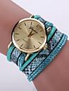 Mulheres Relogio de Moda Relogio de Pulso Bracele Relogio Quartzo / Couro Banda Leopardo Boemio Legal Preta Branco Azul Vermelho Rosa Roxa