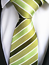 New Green Striped Men\'s Tie Formal Suit Necktie Wedding Holiday Gift TIE0010