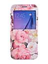 pæon mønster pu læder telefon Taske til Samsung Galaxy s4 / S5 / S6 / s4 mini / s5 mini