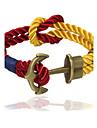 Punk Fashion Men\'s Bracelet Bronze Anchor Bracelet Alloy Bracelet Chain Bracelets / Wrap Bracelets Daily