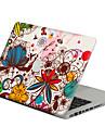 1 piece Anti-Rayures Fleur En Plastique Transparent Decalcomanie Motif PourMacBook Pro 15\'\' with Retina MacBook Pro 15 \'\' MacBook Pro