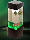(물고기 블랙) 창조적 인 미니의 USB 수족관 작은 물고기 램프 전자 주도 야간 데스크 램프