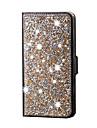 Для Кейс для  Samsung Galaxy Стразы Кейс для Чехол Кейс для Сияние и блеск Искусственная кожа SamsungS6 edge plus / S6 edge / S6 / S5 /