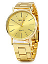 Unisex Dress Watch Fashion Watch / Quartz Stainless Steel Band Vintage Gold
