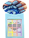 1pcs New Hollow Sticker Colorful Geometric Image Nail Manicure Design JV201-205
