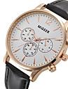 Unisex Reloj de Vestir / Reloj de Moda / Reloj de Pulsera Cuarzo / Piel Banda Cool Negro / Marron Marca