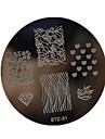 Nail Art Stempelen Plate Stamper schraper 5.5*5.5cm