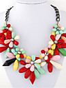 Women\'s Statement Necklaces Resin Alloy Fashion Dark Blue Red Light Blue Jewelry Party Daily Casual 1pc