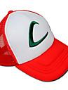 Chapeau/Casquette Inspire par Pocket Monster Ash Ketchum Anime/Jeux Video Accessoires de Cosplay Mancherons / Chapeau Blanc / Rouge