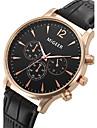 Men\'s Dress Watch Fashion Watch Wrist watch Quartz / Leather Band Cool Black