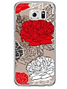 Rose Flower Pattern Soft Ultra-thin TPU Back Cover For Samsung GalaxyS7 edge/S7/S6 edge/S6 edge plus/S6/S5/S4