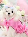 Собаки Упряжки Одежда для собак С поводка Однотонный Лиловый Синий Розовый