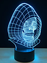 Novelty 3D Skull Light Lamp LED Decoration Lights With USB Power Lamp As Halloween Holidays Gifts