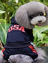 Dog Hoodie / Clothes/Jumpsuit Red / Black / Gray / Rose Dog Clothes Winter / Spring/Fall Letter & Number Sports