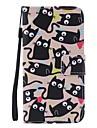 용 삼성 갤럭시 케이스 카드 홀더 / 지갑 / 스탠드 / 플립 케이스 풀 바디 케이스 고양이 하드 인조 가죽 Samsung J3 / J3 Pro