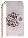 Painted Datura Flowers Pattern Card Can Lanyard PU Phone Case For Samsung Galaxy A3 A5 (2016)