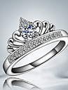 "Queen Personality  ""Crown"" Sterling Silver Zircon Party Band Ring For Women 2016"