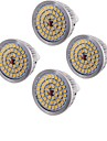 6,5 GU5.3(MR16) Focos LED MR16 48 SMD 2835 600 lm Blanco Calido Decorativa AC 12 V 4 piezas