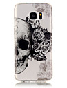 TPU + IMD Material Skull Pattern Painted Relief Phone Case for Samsung Galaxy S7 edge/S7/S6 edge/S6/S5