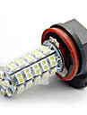 2x 68-SMD Car Xenon White LED H11 Fog Driving DRL Bulb Light Lamps 12V 6000K