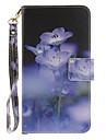 Pour Coque LG Porte Carte Portefeuille Avec Support Clapet Motif Coque Coque Integrale Coque Fleur Dur Cuir PU pour LGLG K10 LG K8 LG K7