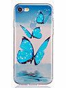 Butterfly Pattern Embossed TPU Material Phone Case for  iPhone 7 7 Plus 6s 6 Plus SE 5s 5