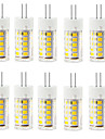 10pcs g4 2.5w 33led smd2835 250-300lm quente branco / branco decorativo ac220-240v levou bi-pin lights