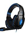 게임 헤드폰 G4000 스테레오 소음 취소 게이밍 헤드셋 마이크 고음질 드라이버는 PC에 빛을 주도