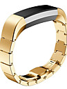 Preta / Rose / Dourada / Prateada Aco Inoxidavel / Metal Pulseira Esportiva / Fecho Moderno Para Fitbit Assistir 10mm