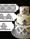 3Pcs Lot Lace Flower Cake Stencil Cake Cookie Fondant Side Baking Stencil Wedding Decorating Tool
