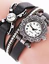 Women\'s Cool Quartz Fashion Casual Watch PU Belt Butterfly Beautiful Diamond Bracelet Round Dial Watch Unique Watch